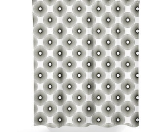 Black White Shower Curtain,  bathroom Decor, ,  Geometric