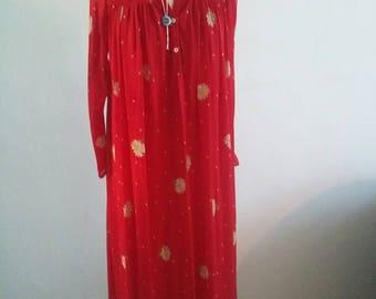 vintage floral smock dress
