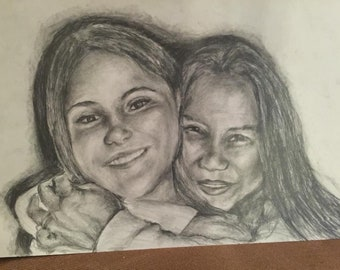 Personalized Portrait drawings one or two people of your choice