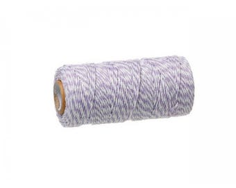 100 m spool Twine Baker's Twine Style purple and white
