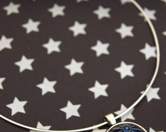 GALAXY STAR BLUE - CO018 ASANOHA CHOKER NECKLACE