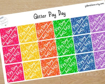 Glitter Pay Day Corner Planner Stickers