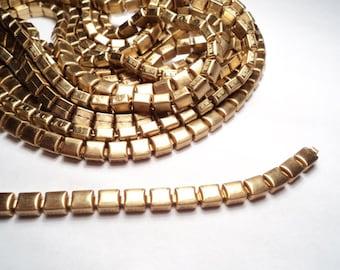 6 feet - 5mm Brass Box link Chain - m74
