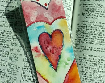 Funky Heart Bookmark