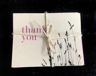 Thank You with Wheat note card set