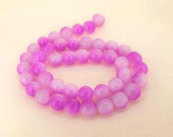 """Charm Purple Candy Jade Glass Gemstone Beads ---- 10mm ----about 40beads----about 16"""" in length"""