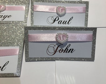 Glitter embelished Place Cards