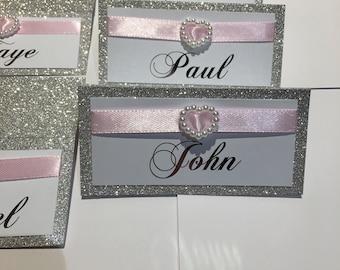 Glitter embelished Place Cards