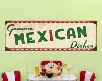 Genuine Mexican Food Wall Decal Cream - #62815