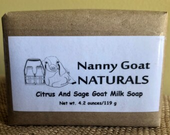 Citrus and Sage Goat Milk Soap