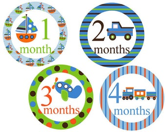 Baby Month Stickers Monthly Stickers Baby Milestone Stickers Baby Shower Stickers Month Stickers Boys