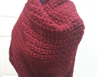 Blanket Cranberry Shawl