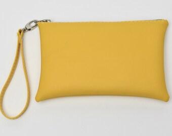 Yellow Wristlet/Clutch Purse