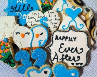 Custom Wedding or Anniversary Sugar Cookies