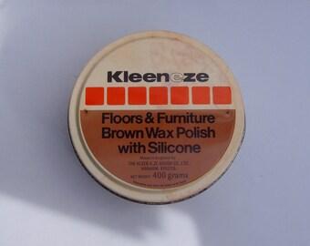 Kleen-e-ze Floors and Furniture Polish Tin