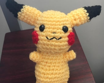 Pikachu Amigurumi - Pikachu Plush - Pikachu Crochet - Pikachu Stuffed Animal - Pokemon Crochet  - Cute Gift - Kawaii Pikachu