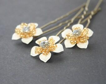 Wedding hair pin, Bridal hair pin, Flower hair pin, Bridal hair accessory, Bridal flower pins, Wedding flower pin, Wedding hair accessories