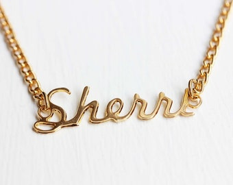 Sherri Name Necklace, Name Necklace