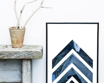 Navy Blue Wall Art, Navy Blue Print, Navy Blue Decor, Scandinavian Print, Printable Art, Modern Wall Art, Wall Decor, Digital Download