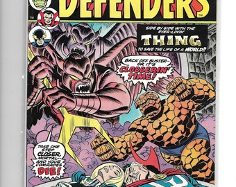 DEFENDERS#20 Hulk,Dr.Strange,Nighthawk,Valkyrie and Fantastic Four's THE THING