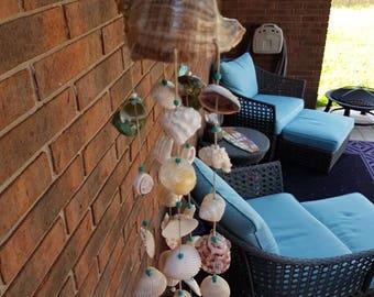 Seashell Wind Chimes, All Natural Shell Chimes, Natural Seashell Patio  Decor, Outdoor Beach