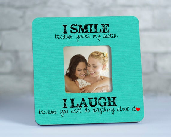 Personalized Sister Gift Ideas, Sister Picture Frames for Her, Gift ...