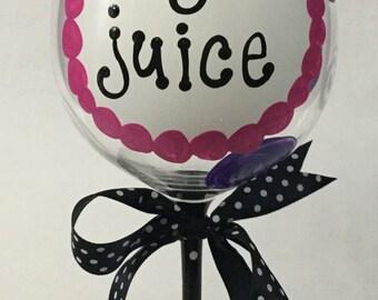 Gigis Juice Giant Wine Glass
