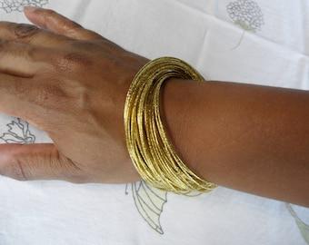 Interlocking Bangles Gold Bangle Set Multi Strand Bracelet Bohemian Bangles Skinny Bracelets Boho Chic Bracelet Thin Bangle Boho Bangles