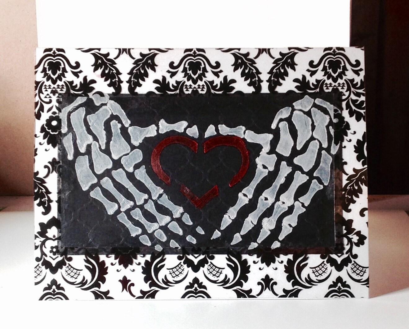 Gothic heavy metal valentine birthday card ee cummings zoom kristyandbryce Images