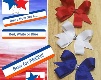 Buy a Bow Get a Red, White or Blue Bow for FREE!!