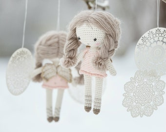 PATTERN - Little angel doll - crochet amigurumi pattern, PDF (English)