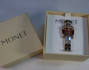 Monet Collectable Toy Soldier Brooch