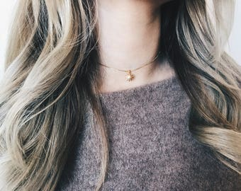Starburst Necklace|Gold Star Chocker Necklace|Gold Star Chocker|Gold Collar Chocker|Gold Chocker Jewelry|Gold Chocker Necklace|Minimalistic