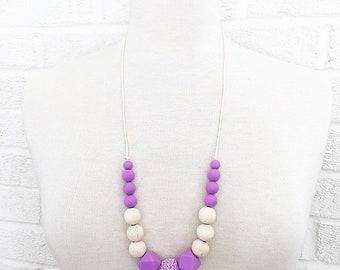 SALE!!!  Boho 3 sensory teething nursing necklace