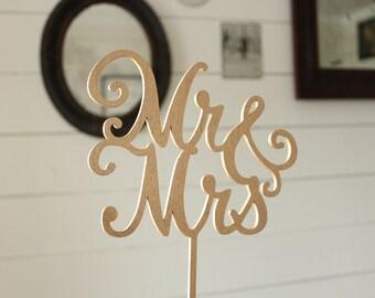 Mr & Mrs Cake Topper Wedding Cake Topper
