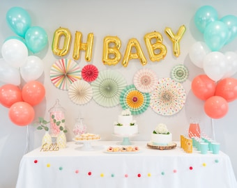 Oh Baby Shower Decorations Kit