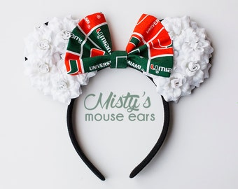 UM University of Miami Rose Mouse Ears