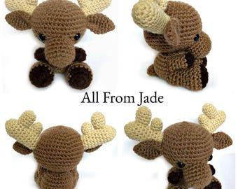 Toy stuffed amigurumi Moose custom made for child