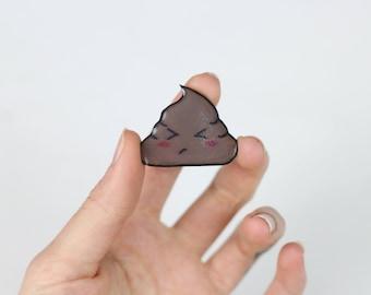 Kawaii Poop Pin or Magnet