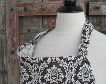 Nursing Cover-Brown Damask- One Size Fits All