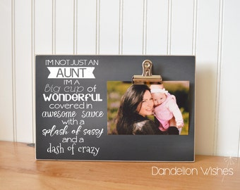 Birthday Gift For Aunt, Aunt Gift Frame {I'm Not Just An Aunt} Birthday Gift For Aunt, Auntie Gift, Aunt Picture Frame, Aunt Gift