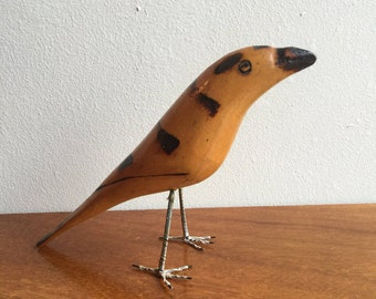 Mid Century Modern wood Bird