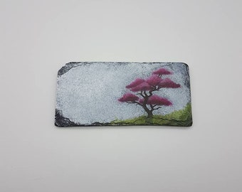 Pink Bonsai Tree Slate