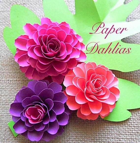 Paper Flower Template Paper Flower Tutorial Diy Paper