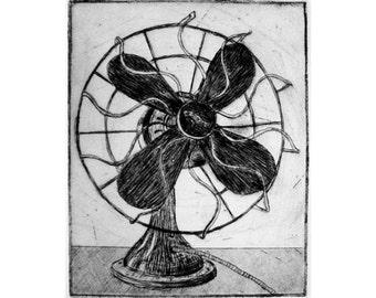 Westinghouse Fan (original etching)