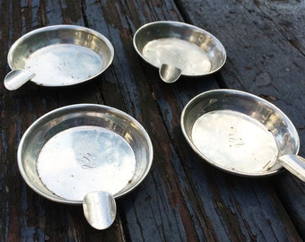 G H French and Co Sterling Ashtrays Four all together, three hallmarked sterling