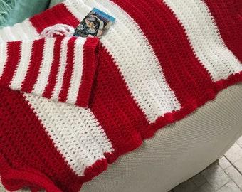 Crochet baby striped blanket