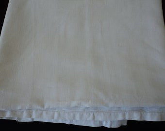 French Vintage pure linen sheet with centre seam (06235)