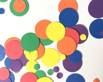 Rainbow Confetti // Party Confetti // Rainbow Party - 300 Pieces