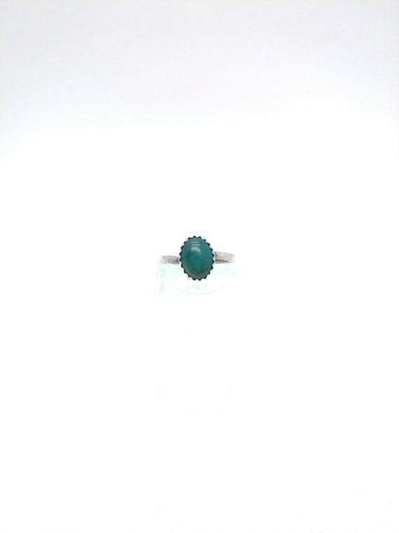 Ocean Blue Gemstone Ring | Chrysocolla Ring | Sterling Silver Ring Sz 5.25 | Blue Green Gemstone Ring | Chrysocolla Jewelry | Rustic Ring